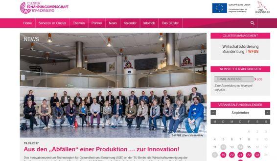 Website zum Innovationstag Ernährungswirtschaft 2017