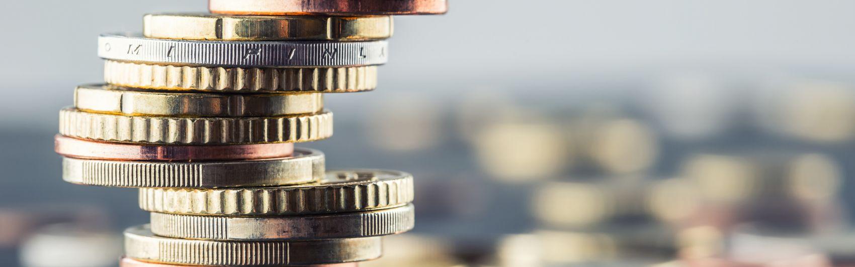 Geld Münzen Euro Finanzen Einnahmen Ausgaben